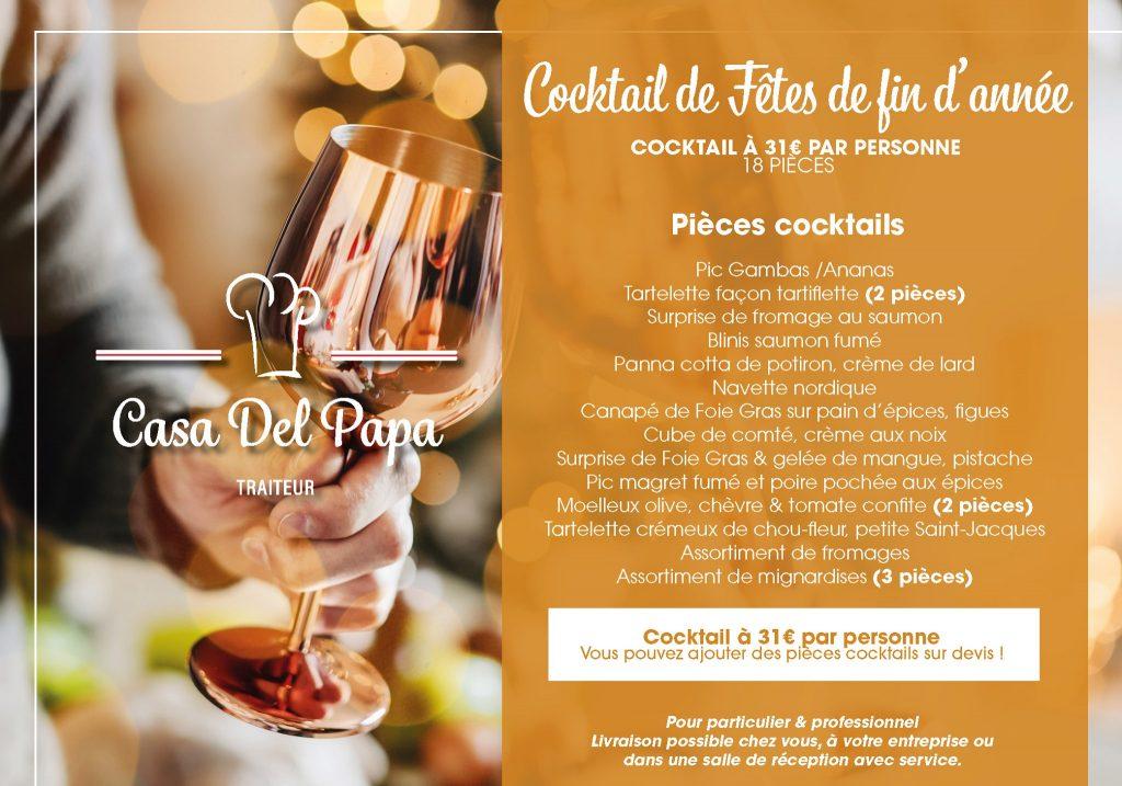 Cocktail de fêtes de fin d'année Traiteur à Pierrelatte dans la Drôme